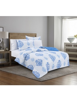 Mainstays Deep Blue Sea Bed In A Bag Complete Bedding Set by Mainstays