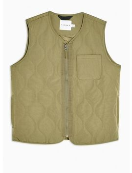 Khaki Quilted Gilet by Topman