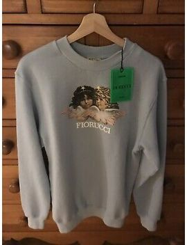 Fiorucci Angels Sweatshirt Pale Blue Size Medium New With Tag by Fiorucci