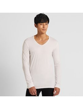 Men Heattech Jersey V Neck Thermal Top (5) by Uniqlo
