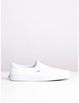 Mens Classic Slip On True White Canvas Shoes by Vansvans