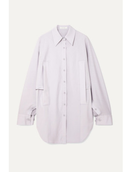 Convertible Draped Woven Shirt by Low Classic