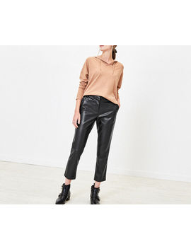Faux Leather Trousers by Oasis
