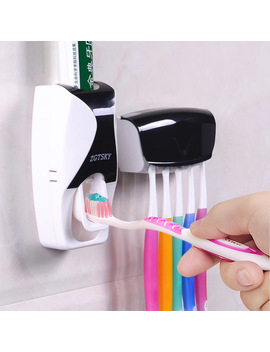 Convenient Toothbrush Holder Multi Function Save Space Toothbrush Toothpaste Bathroom Accessories Durable Toothpaste Dispenser by Ali Express.Com
