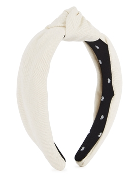 Ivory Cotton Headband by Lele Sadoughi