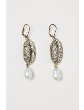 Rhinestone Earrings With Pearl by H&M