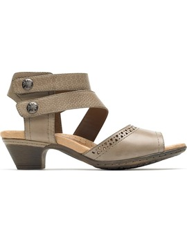 Abbott Double Cuff Perforated Sandal by Rockport Cobb Hill