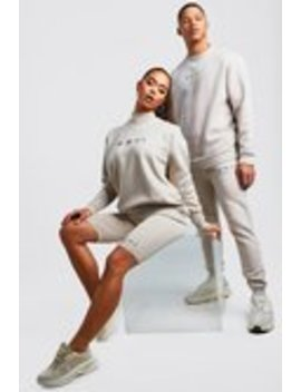 His Raw Edge Loose Fit Sweater Tracksuit by Boohoo Man