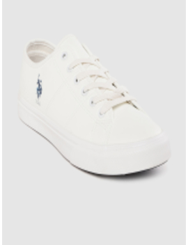 Men Off White Hanes Sneakers by U.S. Polo Assn.