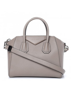 Givenchy Sugar Goatskin Small Antigona Dark Sand by Givenchy