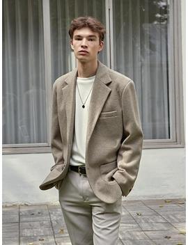 Brush Mild Single Jacket Beige Gray by Deans