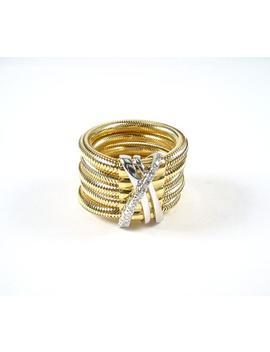 Italian Vintage Ponte Vecchio Gioielli 18k Diamond Ring by Etsy