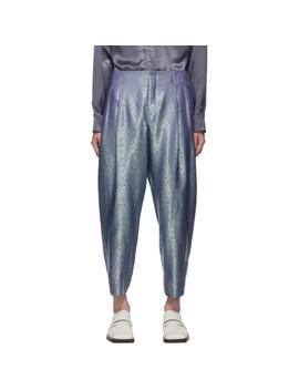 Blue & Green A Pattern Trousers by Comme Des GarÇons Homme Plus