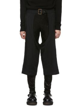 Black Serge Cut Out Pants by Comme Des GarÇons Homme Plus