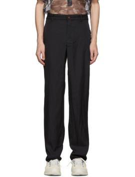 Black Jacquard Stripe Trousers by Comme Des GarÇons Homme Plus