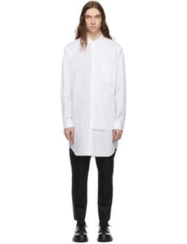 White Broad Double Layer Shirt by Comme Des GarÇons Homme Plus