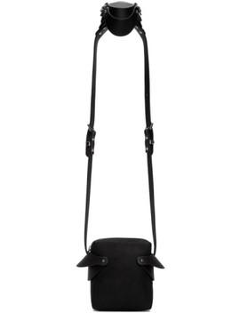 Black Shoulder Piece Bag by Fleet Ilya