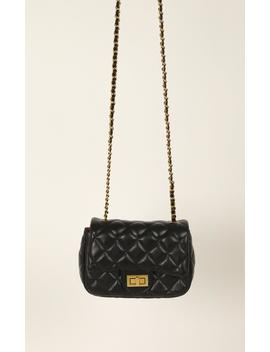 Real Love Bag In Black And Gold by Showpo Fashion