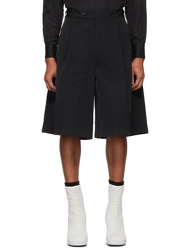 Black Oversized Tailored Shorts by Random Identities
