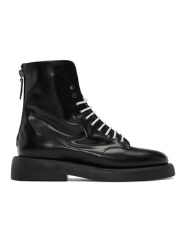 Black Gomme Polacchino Gommello Boots by MarsÈll