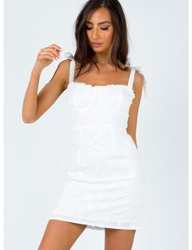 The Macy Mini Dress White by Princess Polly