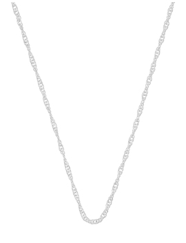 Sterling Silver Twisted Chain Necklace by Accessorize