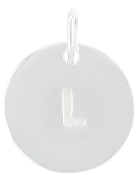 Sterling Silver L Initial Charm by Accessorize