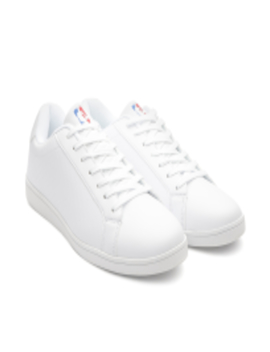 Men White Solid Sneakers by Nba