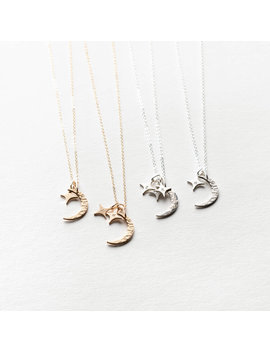 Moon And Stars Necklace by Gldn