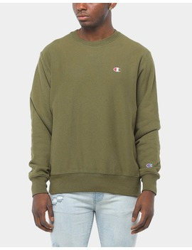 Champion Reverse Weave Crew Army Green by Champion