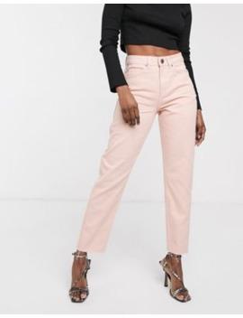 Asos Design – Ritson – Original Mom Jeans I Rosa Tvätt by Asos Design