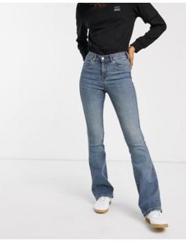 Dr Denim – Utsvängda Skinny Jeans I Autentisk Tvätt Med Hög Midja by Dr Denim