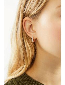 Rhinestone Huggie Hoop Earring by Urban Outfitters