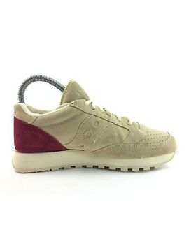 Saucony Jazz Original Men's Cream Red Athletic Running Sneakers Us 8 Shoes C672 by Ebay Seller