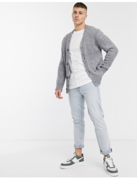 River Island Boucle Cardigan In Grey by River Island