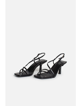 Mini Josephine Strappy Buckle Heels In Black by Luxe To Kill
