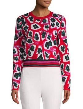Printed Cropped Sweater by Diane Von Furstenberg