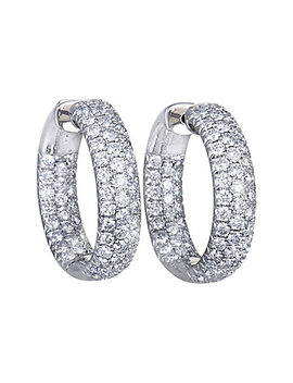 Odelia 18 K 4.00 Ct. Tw. Diamond Hoops by Odelia