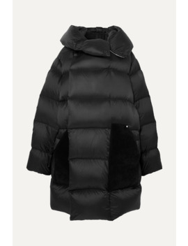 Sisy Oversized Quilted Shell And Suede Down Coat by Rick Owens