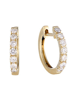 14 K 0.75 Ct. Tw. Diamond Hoops by Diamond Select Cuts