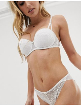 Ann Summers Sexy Lace Brazilian Knicker In White by Ann Summers