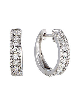 14 K 0.70 Ct. Tw. Diamond Hoops by Diamond Select Cuts
