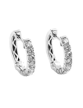 14 K 0.83 Ct. Tw. Diamond Hoops by Diamond Select Cuts
