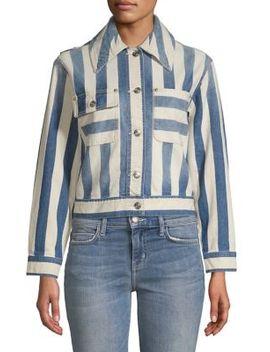 The Sammy Striped Jacket by Current Elliott