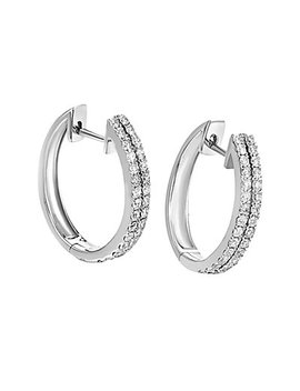 14 K 0.96 Ct. Tw. Diamond Hoops by Diamond Select Cuts