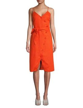 Carnell Buttoned Linen Dress by Joie