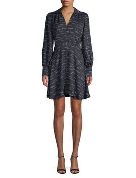 Printed Long Sleeve Shirtdress by Joie
