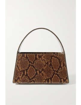 Caroline Snake Effect Leather Tote by Staud