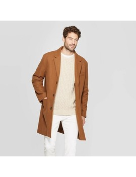 Men's Standard Fit Overcoat   Goodfellow & Co™ Camel by Goodfellow & Co
