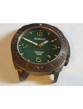 Borealis Oceanaut Aluminum Bronze Diver Automatic,Jade Green Sandwich Dial by Borealis